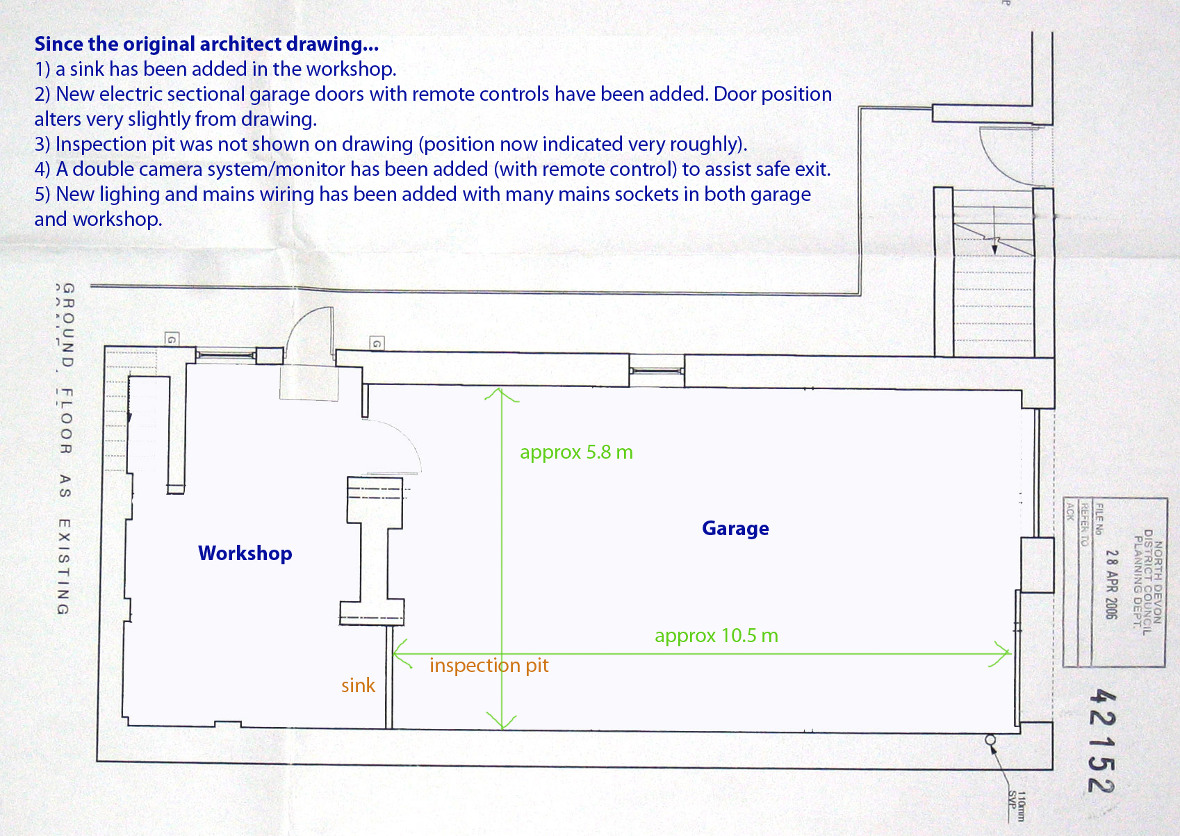 Beau geste Workshop garage plans